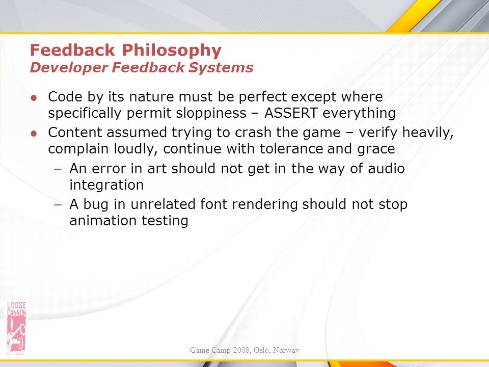 Feedback Philosophy Developer Feedback Systems