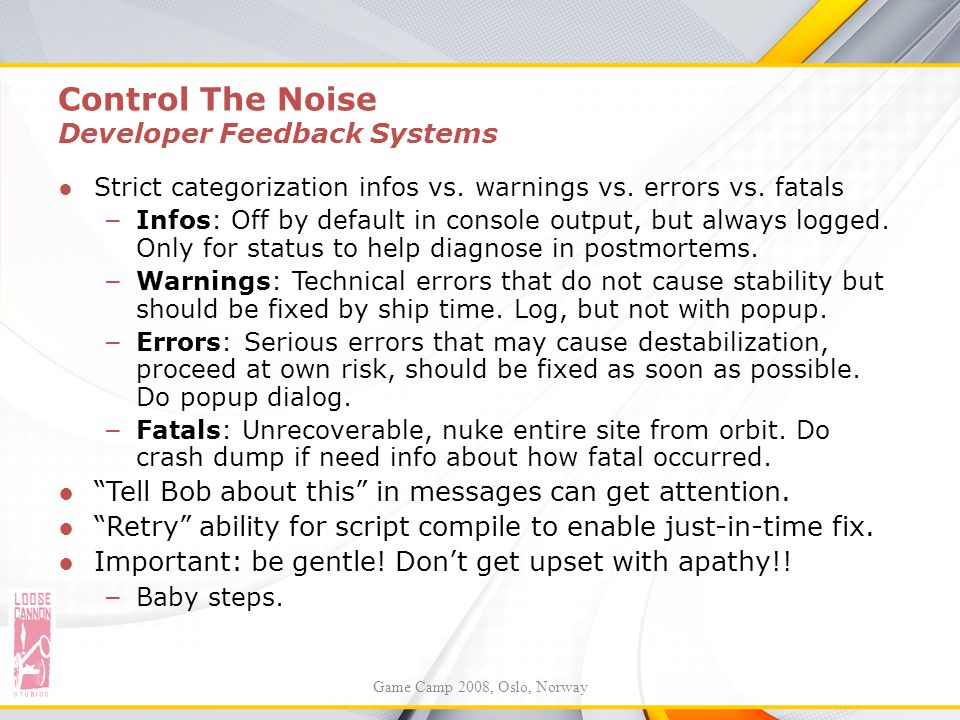 Control The Noise Developer Feedback Systems