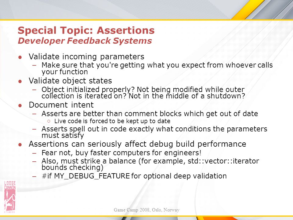Special Topic: Assertions Developer Feedback Systems