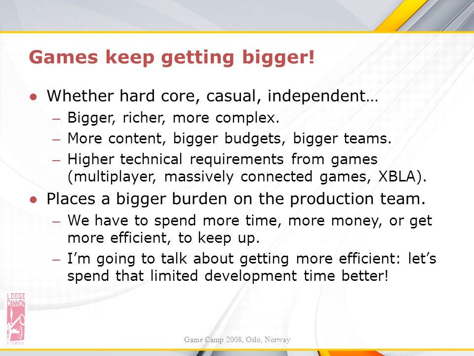 Games keep getting bigger!