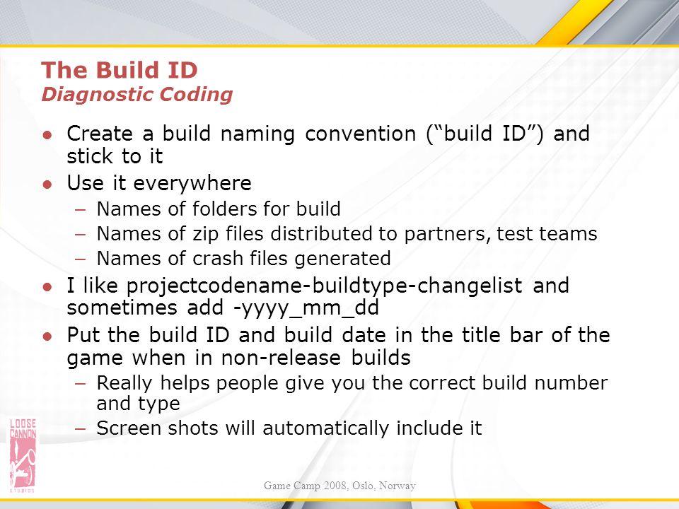 The Build ID Diagnostic Coding