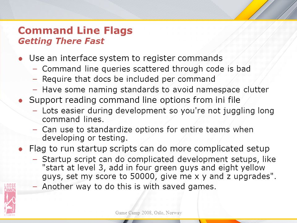 Command Line Flags Getting There Fast