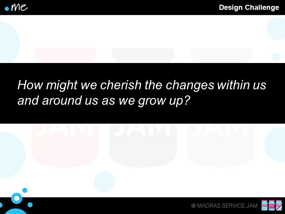 Design Challenge How might we cherish the changes within us and around us as we grow up