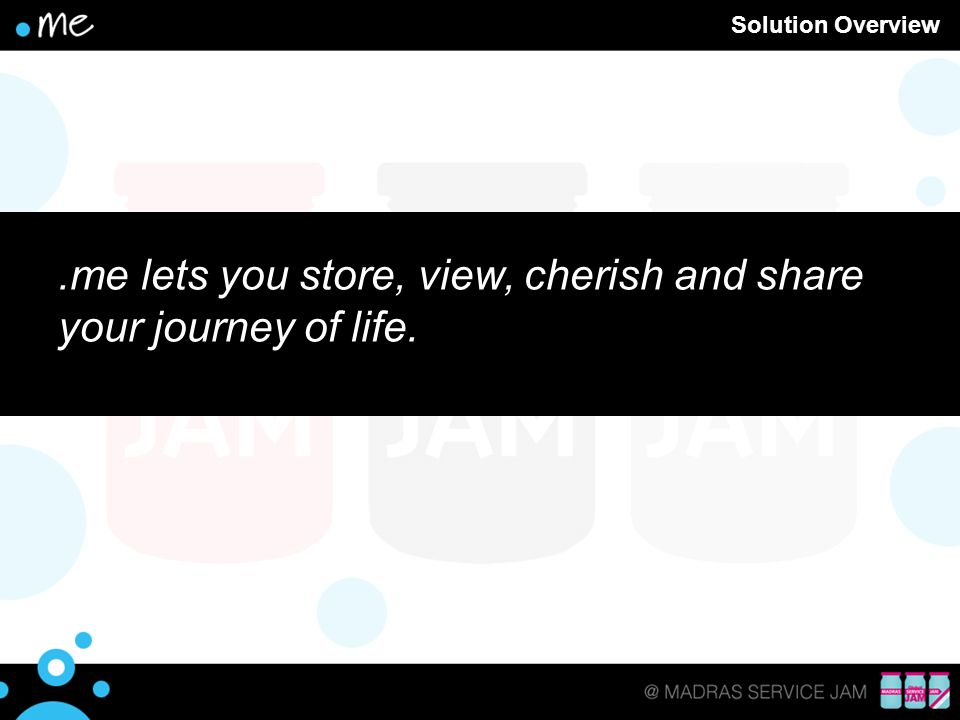 .me lets you store, view, cherish and share your journey of life.