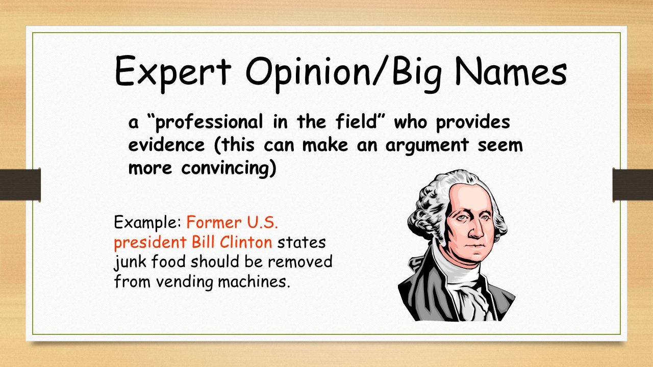 Expert Opinion/Big Names