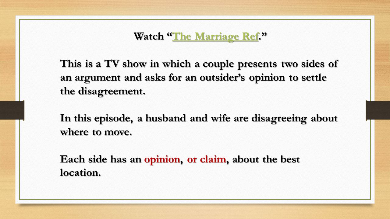 Watch The Marriage Ref.