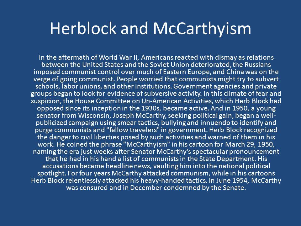 Herblock and McCarthyism