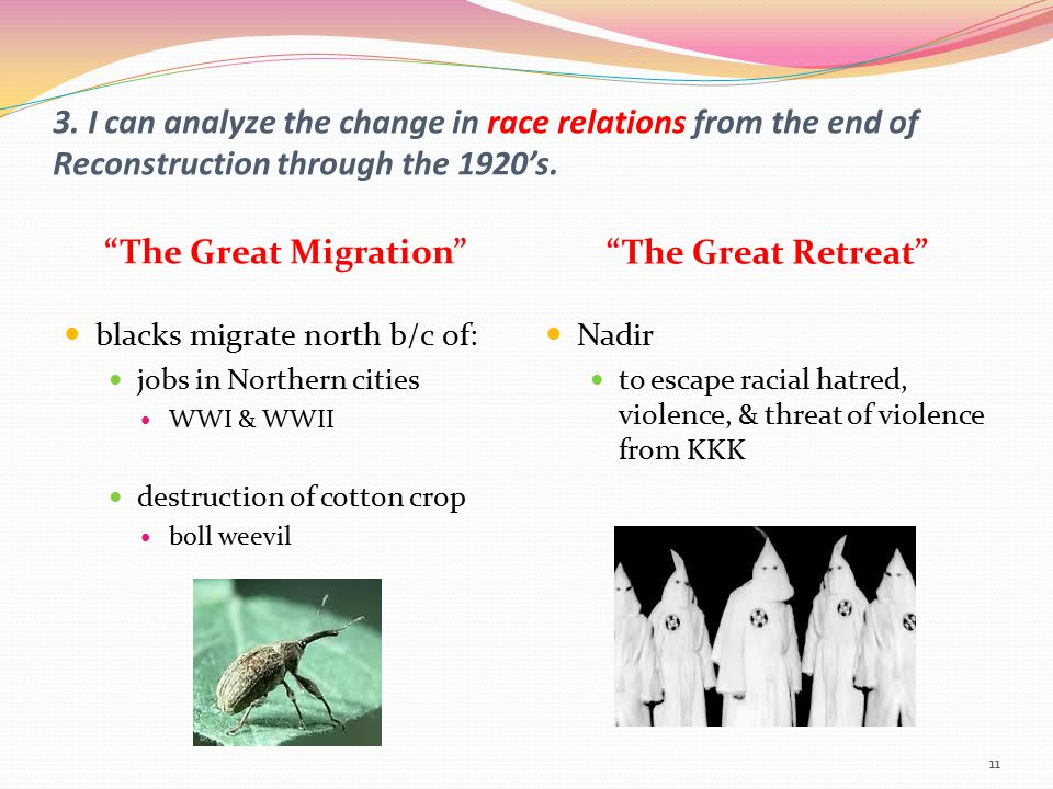 The Great Migration The Great Retreat