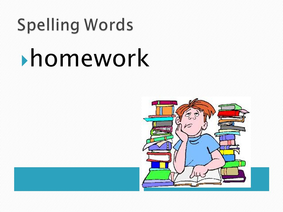 Spelling Words homework