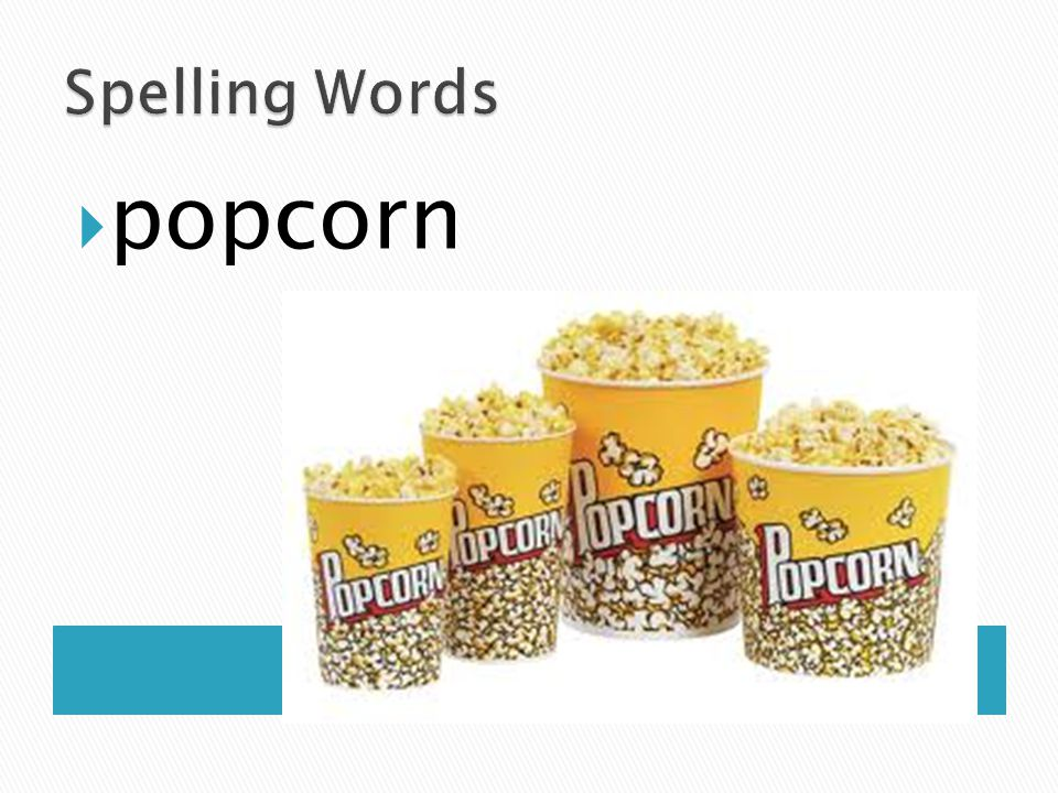 Spelling Words popcorn