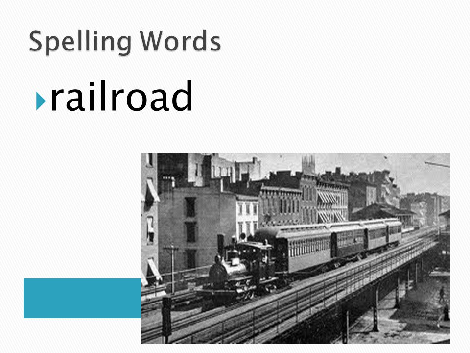 Spelling Words railroad