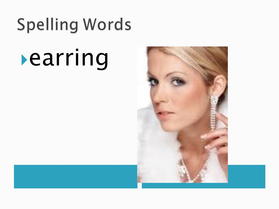 Spelling Words earring