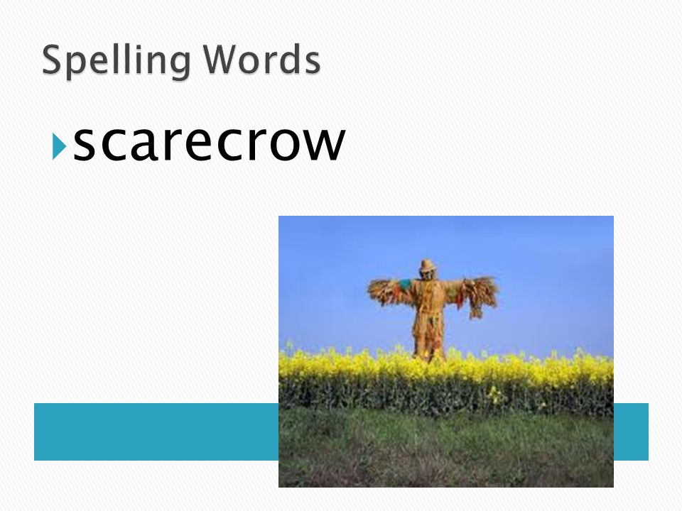 Spelling Words scarecrow