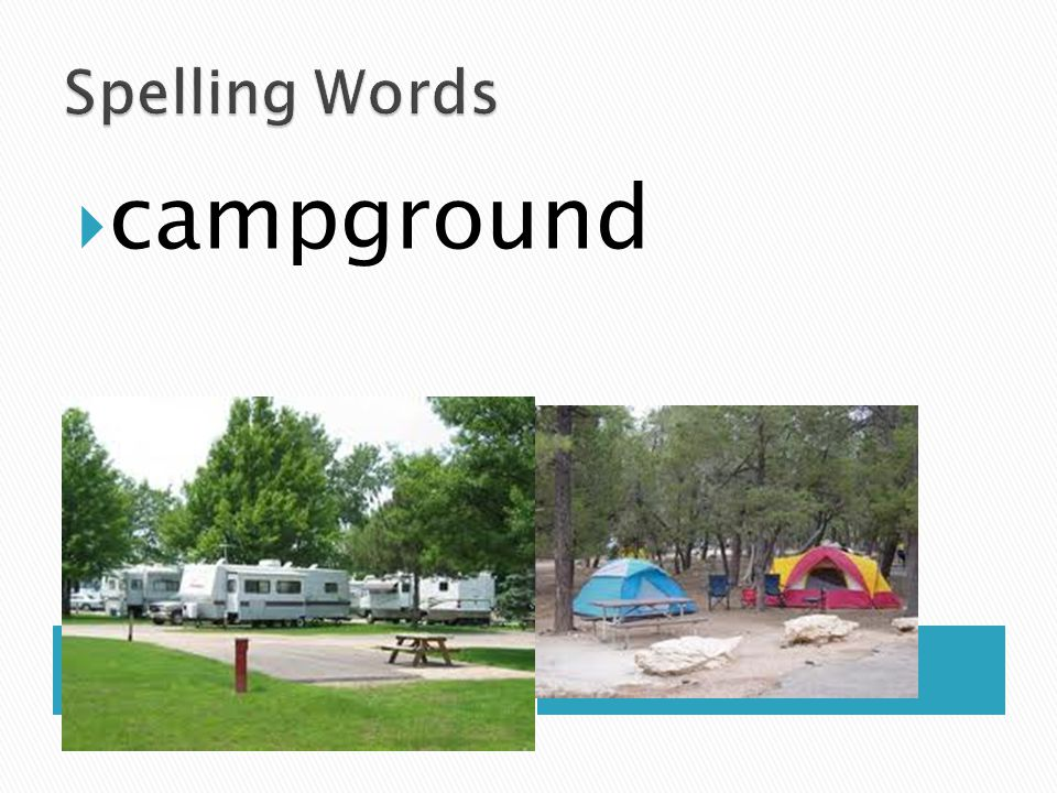 Spelling Words campground