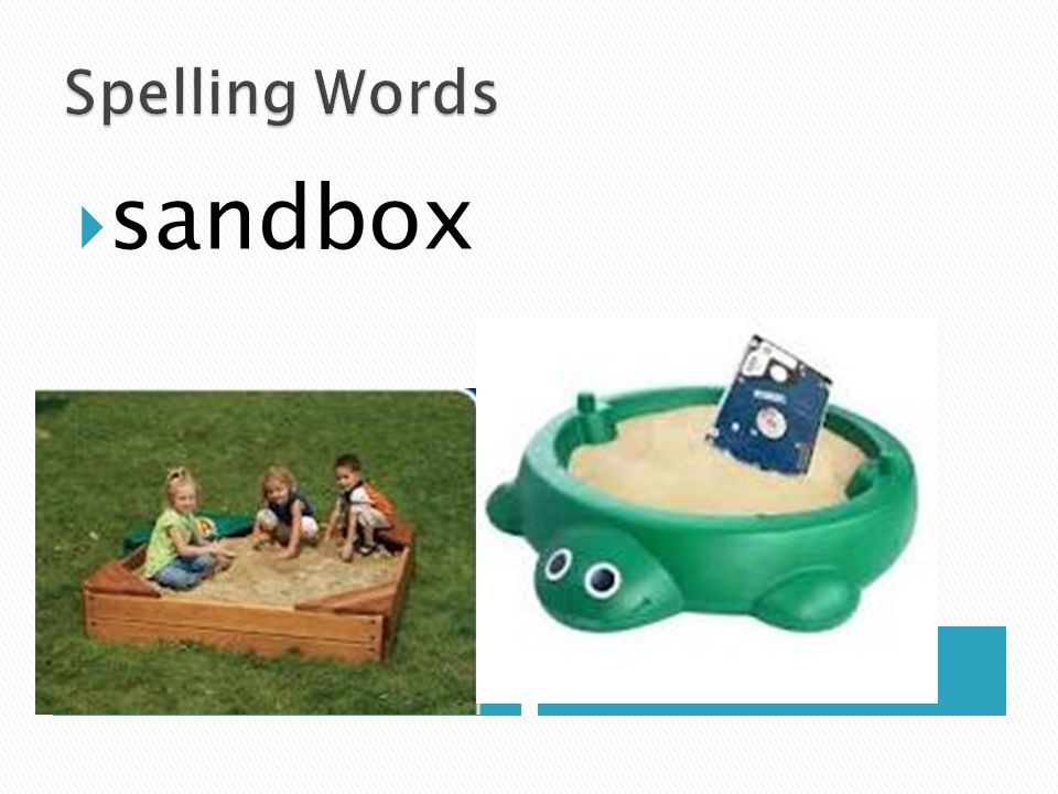 Spelling Words sandbox