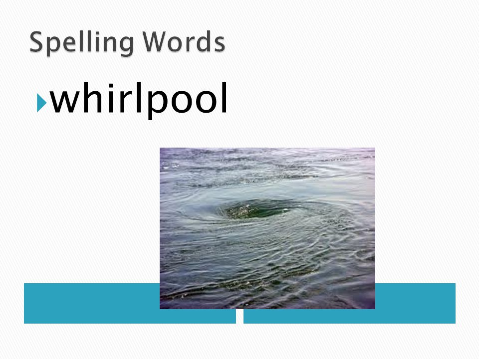 Spelling Words whirlpool