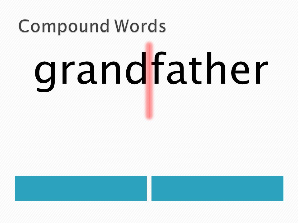Compound Words grandfather