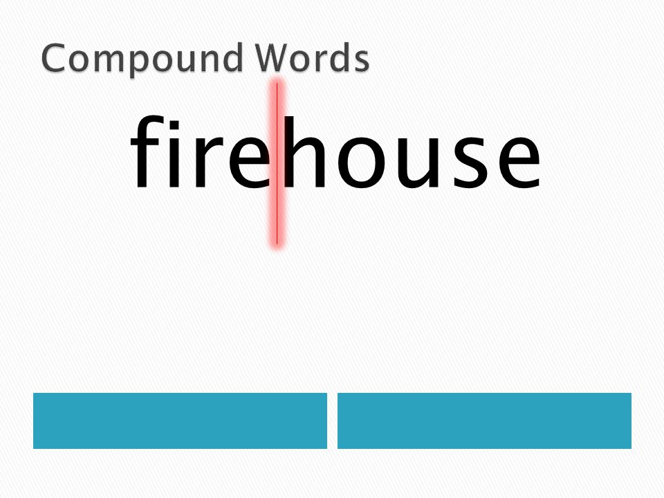 Compound Words firehouse