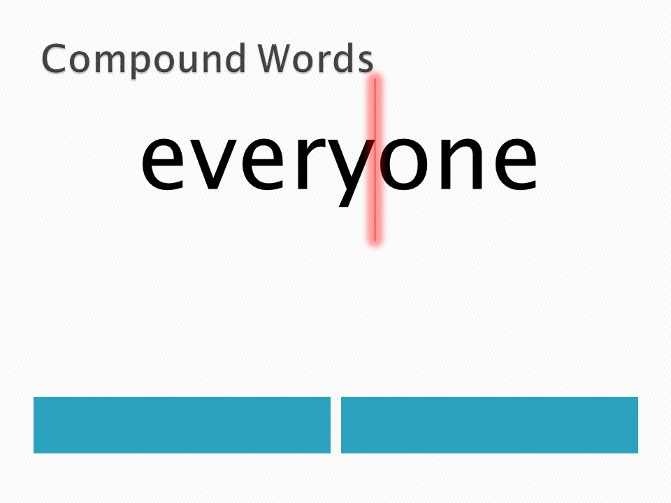 Compound Words everyone