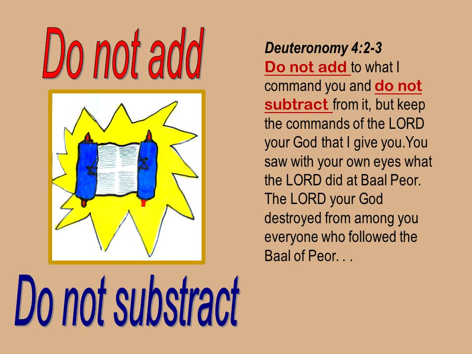 Do not add Do not substract