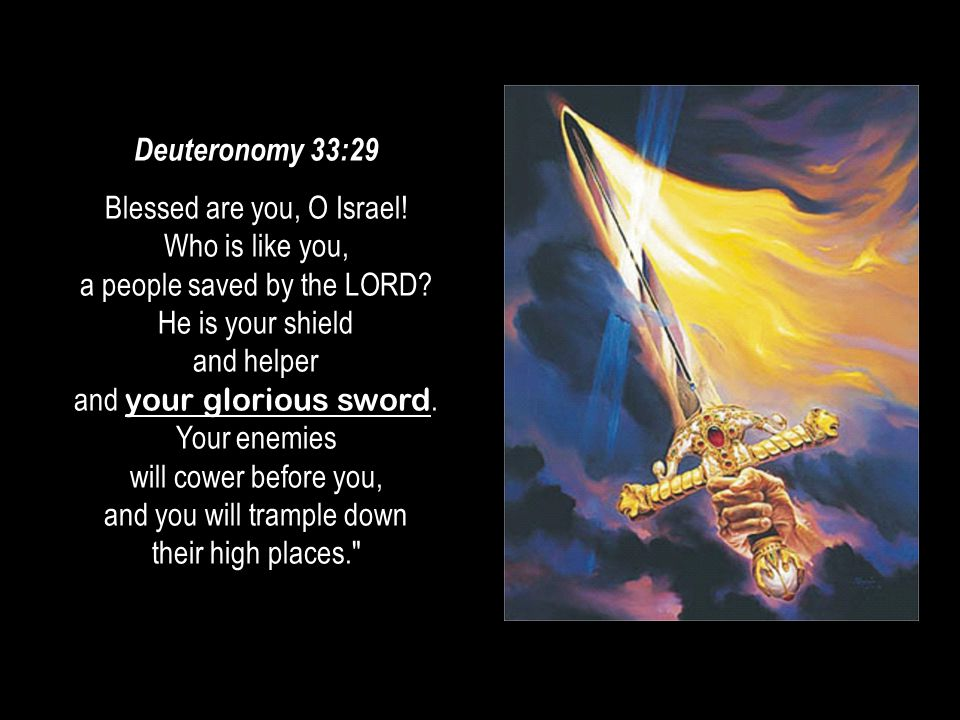 #10 08 August 2014. Deuteronomy 33:29.
