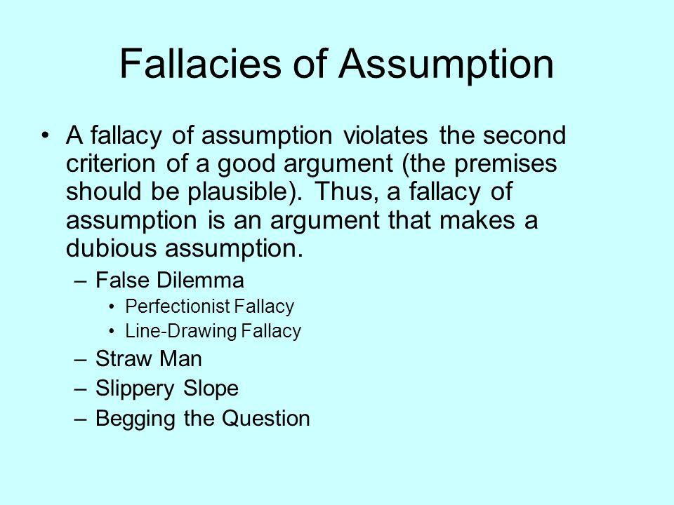 Fallacies of Assumption