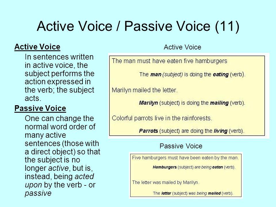 Active Voice / Passive Voice (11)