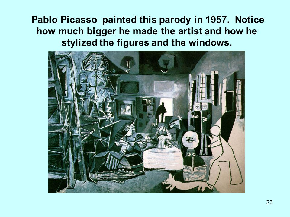 Pablo Picasso painted this parody in 1957