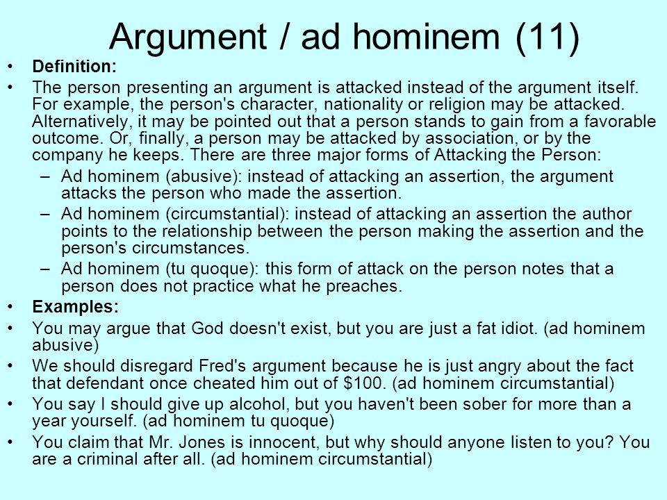 Argument / ad hominem (11)