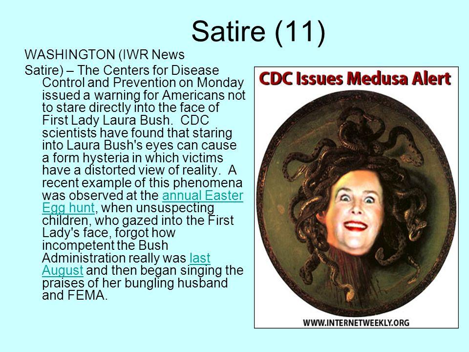 Satire (11) WASHINGTON (IWR News