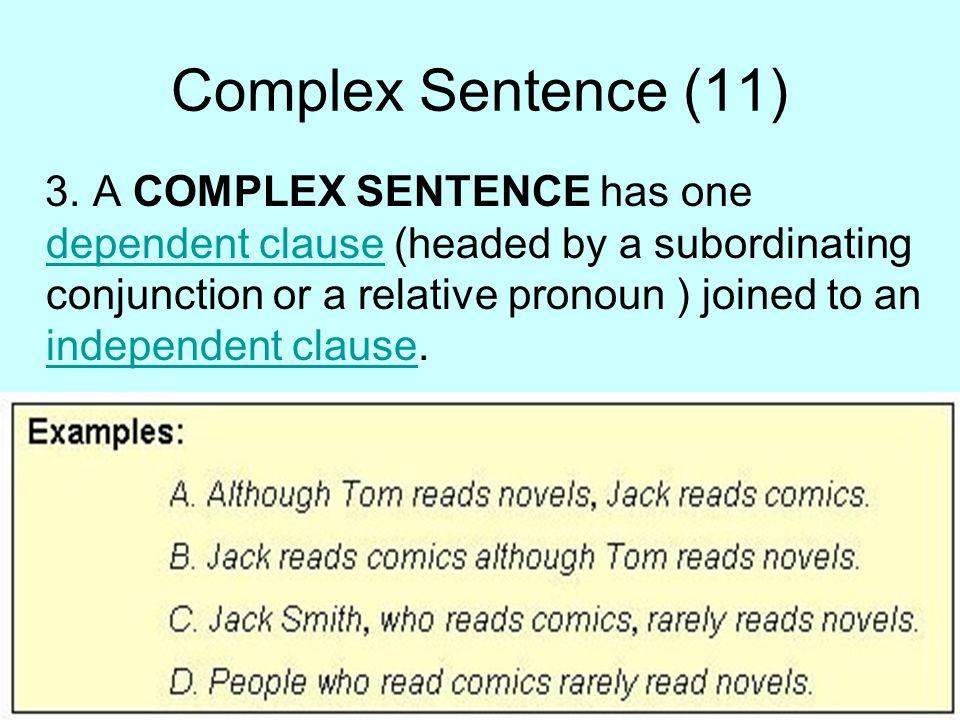 Complex Sentence (11)