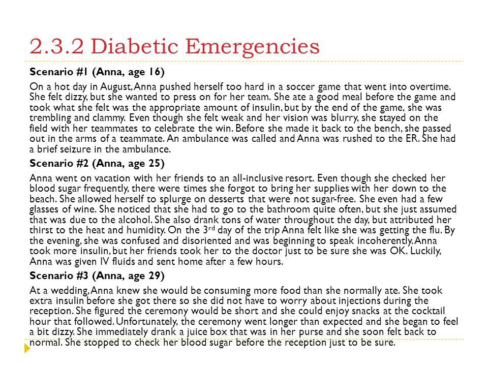 2.3.2 Diabetic Emergencies