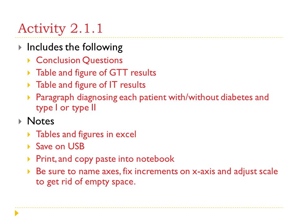 Activity 2.1.1 Includes the following Notes Conclusion Questions
