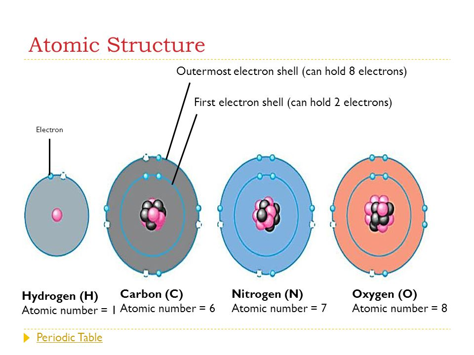 Outermost electron shell (can hold 8 electrons)