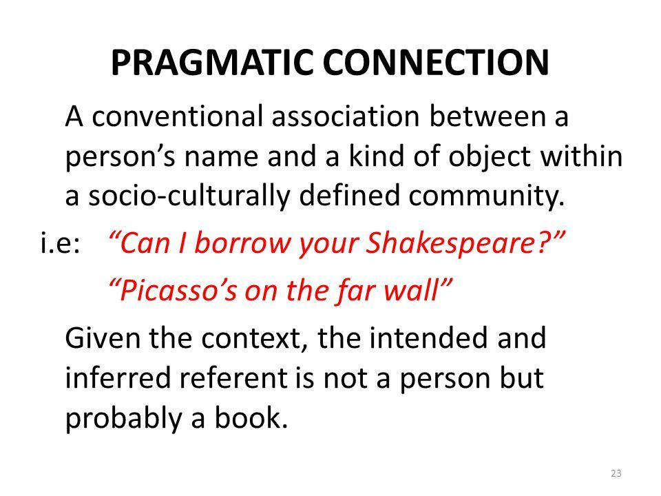 PRAGMATIC CONNECTION