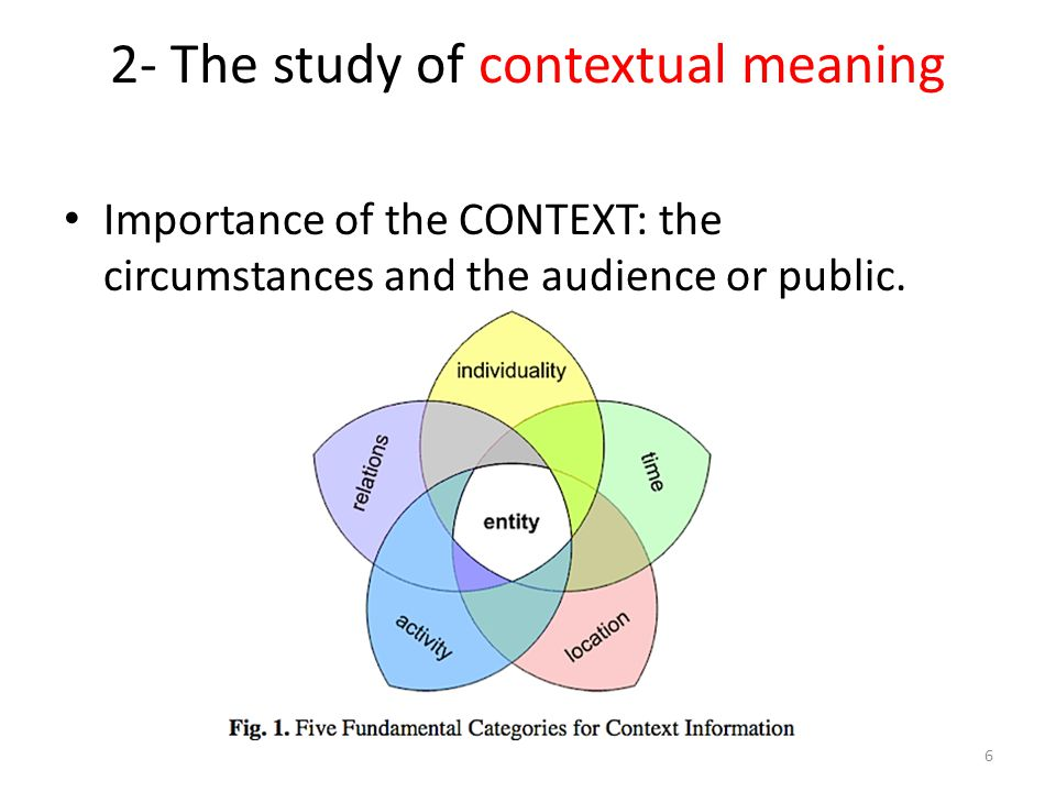 2- The study of contextual meaning