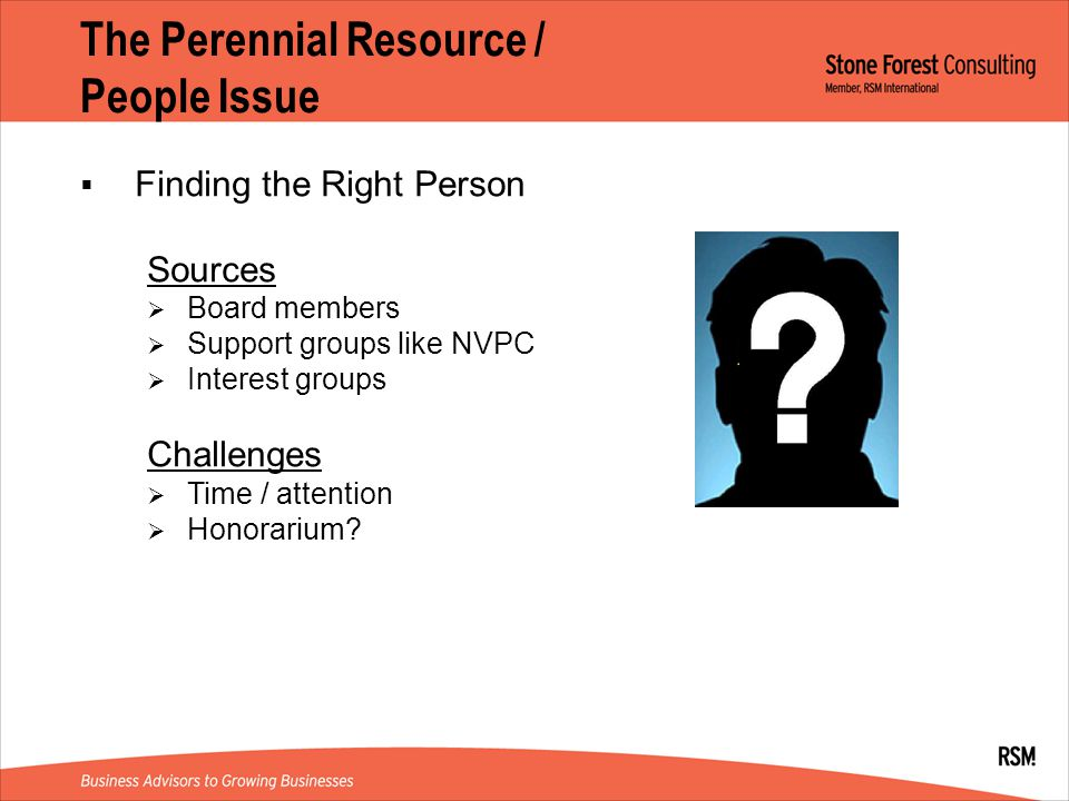 The Perennial Resource / People Issue