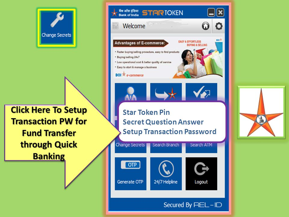 Click Here To Setup Transaction PW for