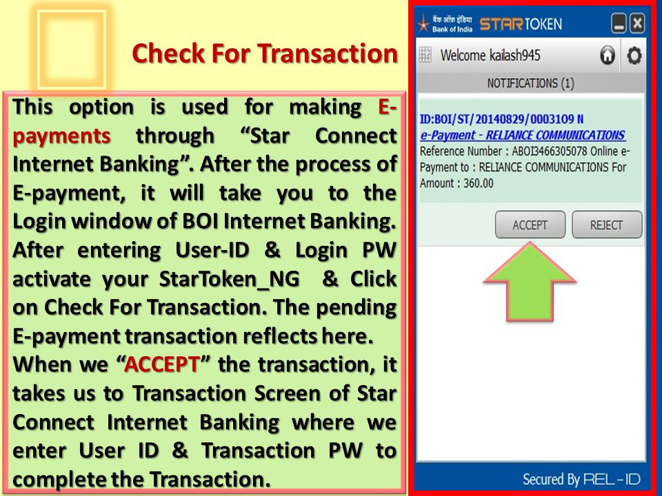 Check For Transaction