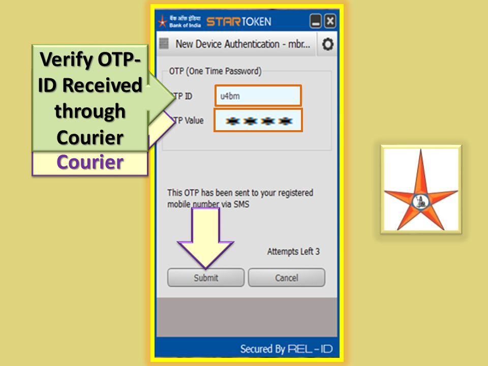 Verify OTP-ID Received through Courier