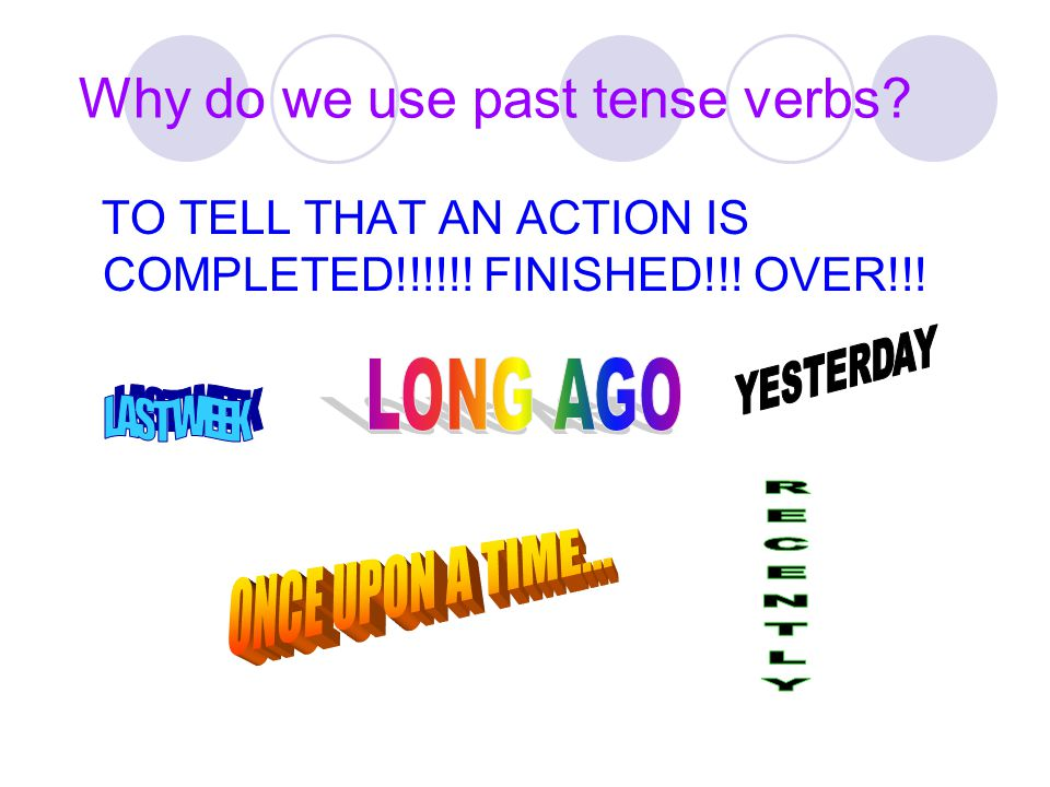 Why do we use past tense verbs