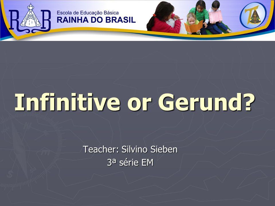 Teacher: Silvino Sieben 3ª série EM