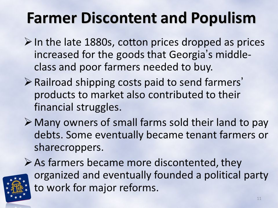 Farmer Discontent and Populism