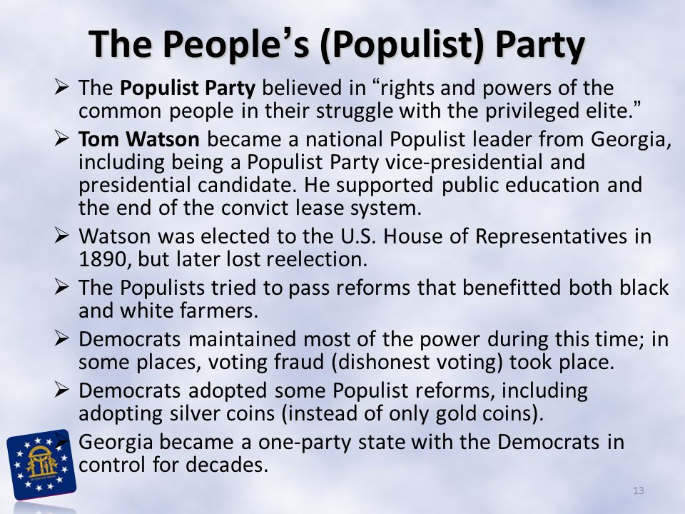 The People's (Populist) Party