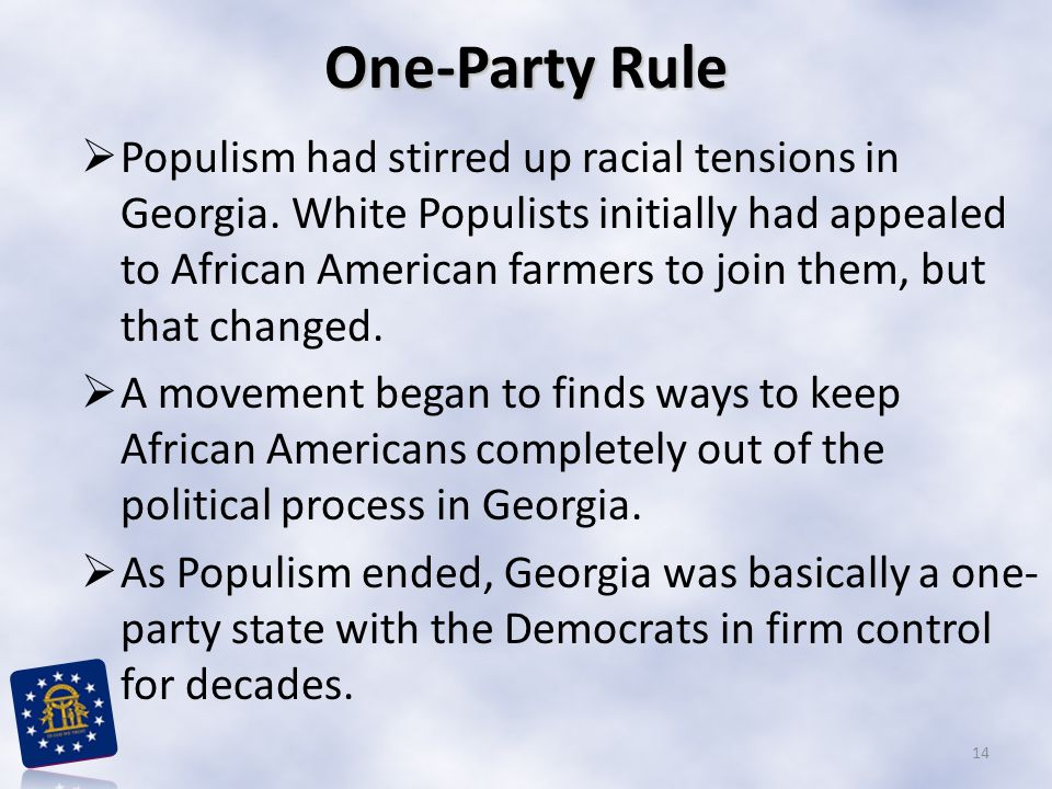 One-Party Rule