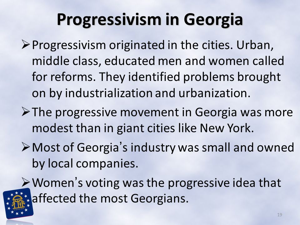 Progressivism in Georgia