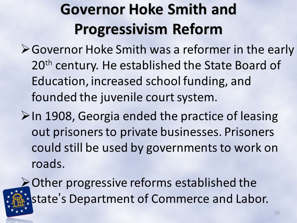Governor Hoke Smith and Progressivism Reform