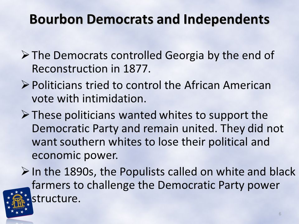 Bourbon Democrats and Independents