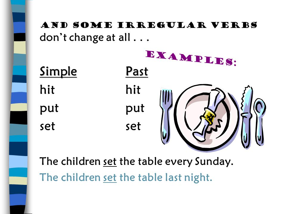 And some irregular verbs don't change at all . . .