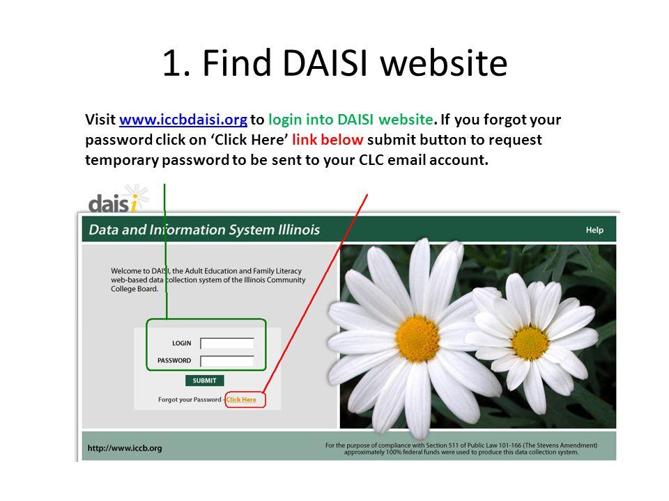 1. Find DAISI website